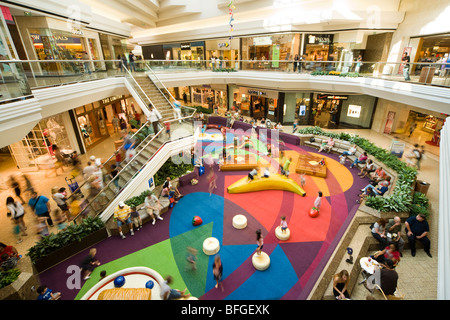 Kids Kourt, Court, corner, area, playground in the Cherry Creek Shopping Mall in Denver Colorado CO US USA - Stock Photo