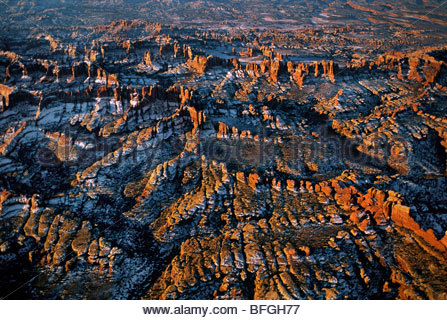 Canyonlands National Park (aerial), Utah - Stock Photo