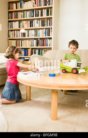 children playing in room - Stock Photo