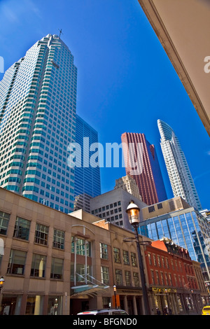 Central Toronto from Yonge Street, Toronto, Ontario, Canada - Stock Photo