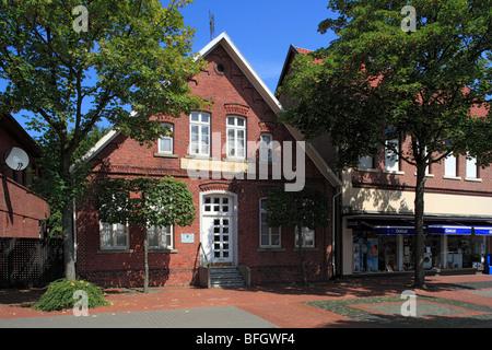 Ackerbuergerhaus Prox auch genutzt als Hoehere Buergerschule, Loeningen, Hasetal, Niedersachsen - Stock Photo