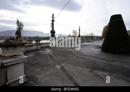 Lake Geneva ( Lac Léman ) Quai du mont blanc - Stock Photo