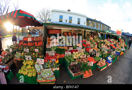 united kingdom west london chiswick essex place square a fruit and vegetable market stall - Stock Photo