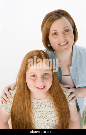 Mother and daughter, portrait - Stock Photo