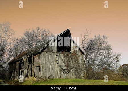 Old Barn. - Stock Photo