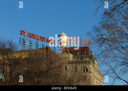 St Anthony Main Street Minneapolis. - Stock Photo