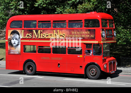London double decker Routemaster red bus - Stock Photo