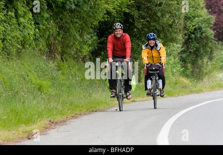 Bike touring at Qualicum Beach,Vancouver Island, British Columbia, Canada.