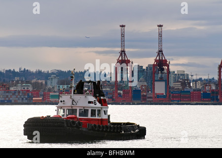 A tugboat in Vancouver BC's harbour. - Stock Photo