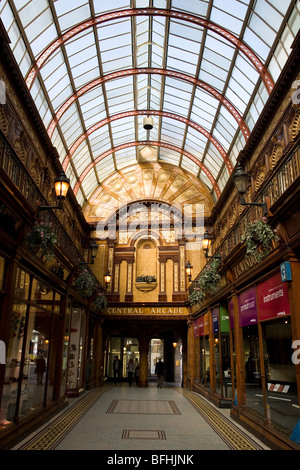 The Central Arcade in Newcastle, England. This Edwardian structure was built in 1906. - Stock Photo