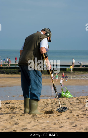 Europe, UK, england, kent, broadstairs 2009 beach viking bay - Stock Photo