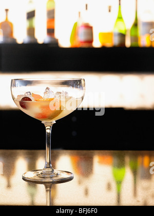A cocktail in a bar, South Africa. - Stock Photo