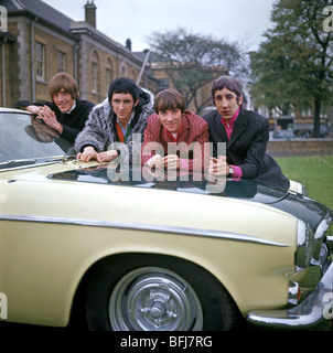 THE WHO - UK rock group at Duke of York's HQ, Chelsea, on 12 November 1966, with Roger Daltrey's car - see Description - Stock Photo