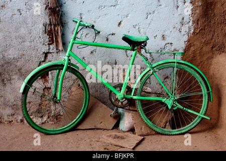 green bike - Stock Photo