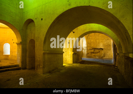 CRYPT OF MONTMAJOUR ABBEY, ARLES, PROVENCE, FRANCE - Stock Photo