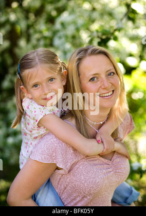 Mother and daughter, Sweden. - Stock Photo