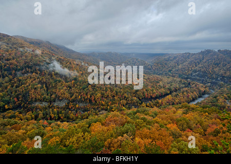 Autumn Color at Breaks Interstate Park in Virginia and Kentucky - Stock Photo