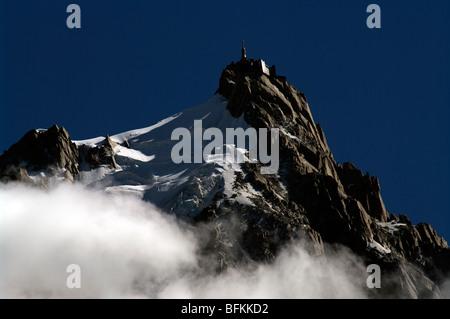 The 'Aiguille du Midi' in Chamonix (France) - Stock Photo