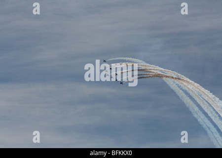 Red Arrows Royal Air Force Aerobatic Team  September 2009 - Stock Photo