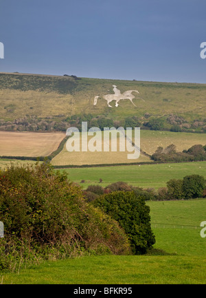 Osmington White Horse, Dorset, England - Stock Photo