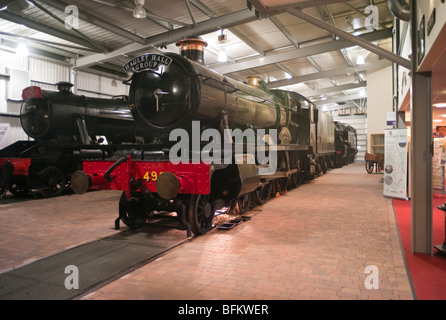 Old preserved steam locomotives in the Visitor Centre at Highley Worcestershire England UK - Stock Photo