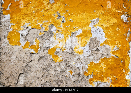 Old weathered painted wall for grunge background - Stock Photo