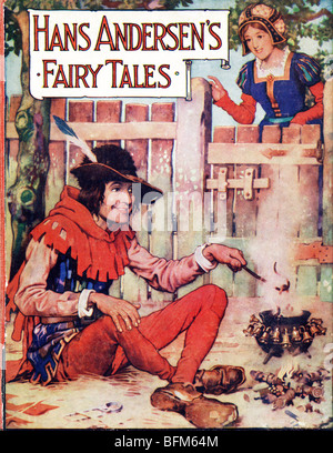 Hardback Book Hans Andersen 's Fairy Tales published by by J Coker & Co of London c 1930  by Harry Clarke FOR EDITORIAL - Stock Photo