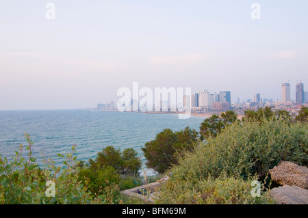 Israel, Tel Aviv as seen from the Old City of Jaffa - Stock Photo