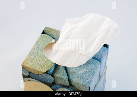 Studio Still life. Box of white paper tissues - Stock Photo
