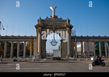 The eastern entrance to Exhibition Place is marked by the Princes' Gates, a beautiful structure named for Edward, - Stock Photo