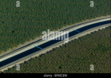 aerial view above aqueduct central valley California Stock ...