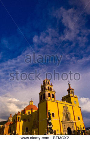 Basilica de Nuestra Senora de Guanajuato, Plaza de la Paz, Guanajuato, Mexico - Stock Photo
