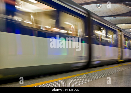 A SD class (Scenic Driving) 5762 train at Britomart Railway Station, Auckland, New Zealand, Monday, September 14, - Stock Photo