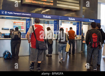 The ticket office at Britomart Railway Station, Auckland, New Zealand, Monday, September 14, 2009. - Stock Photo