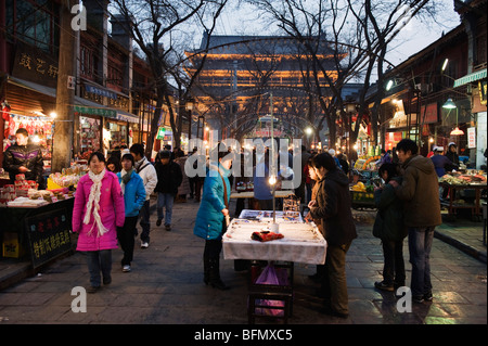 China, Shaanxi Province, Xian, market in muslim quarter near city gate - Stock Photo
