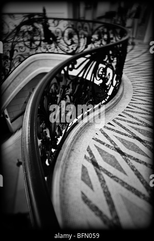 France, Paris, Ile De France, the handrail detail of the staircase in the Petit Palais, home of City of Paris Museum - Stock Photo