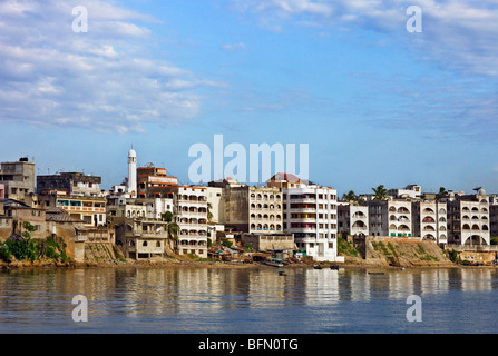 Kenya, Mombasa. The water front of the old dhow harbour in Mombasa. - Stock Photo