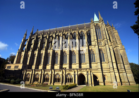 Lancing college chapel in west sussex - Stock Photo