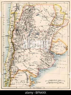 Uruguay Map Stock Photo Royalty Free Image Alamy - Uruguay map atlas