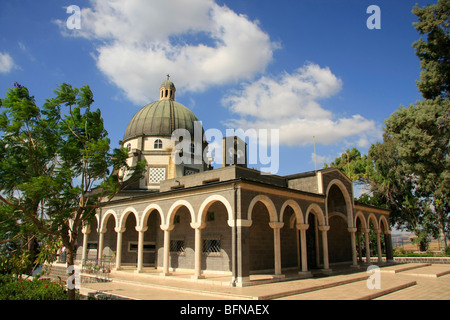 Israel, the Church of Beatitudes on the Mount of Beatitudes - Stock Photo