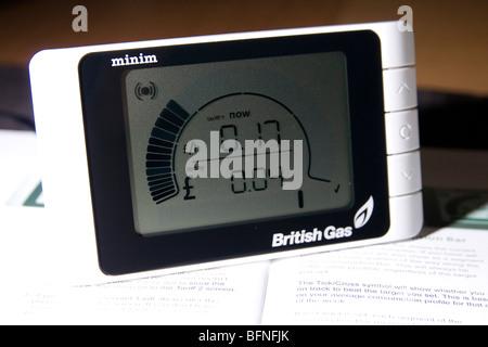 A British Gas Minim Smart Meter - Stock Photo