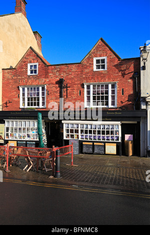 Ye Oldest Chemist Shoppe in England, Market Place, Knaresborough, North Yorkshire, England, UK. - Stock Photo