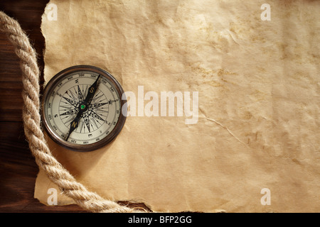 old paper texture for text,map or design, selective focus - Stock Photo