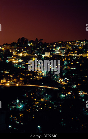 NMK 64890 : Shimla Simla at night ; Himachal Pradesh ; India - Stock Photo