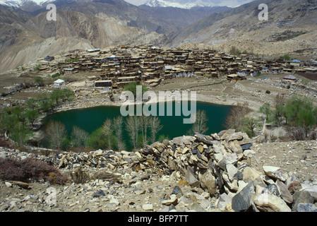 SOM 64884 : Nako village and lake ; Kinnaur ; Himachal Pradesh ; India - Stock Photo