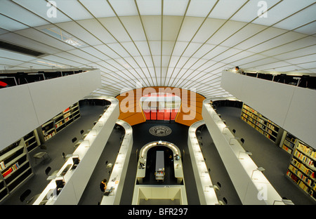 Futuristic Philological Library of Freie Universitaet Berlin by architeckt Sir Norman Foster, Berlin Dahlem Zehlendorf, - Stock Photo