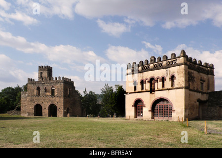 Ruins of Imperial palace at Gondar built in the late 1630's - Stock Photo