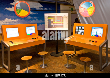 Computers for simulating the energy consumption in Denmark - Stock Photo