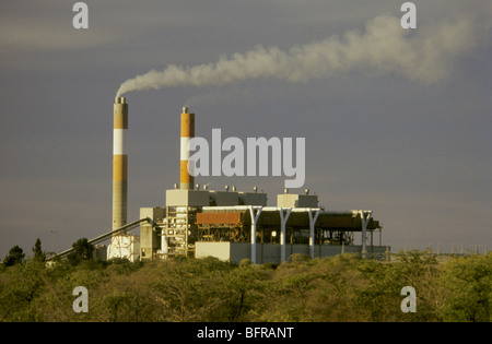The Morupule Colliery Power Station is a landmark on the road between Palapye and Serowe - Stock Photo