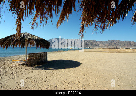 The beach at the Coral Hilton Hotel, Nuweiba, Egypt. - Stock Photo